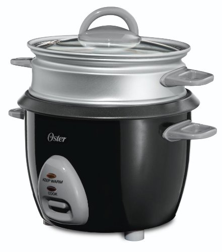 Review Of Oster CKSTRCMS65 3-Cup (Uncooked), 6-Cup (Cooked) Rice Cooker with Steam Tray, Black