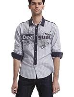 Desigual - poplin 50s - chemise - coupe droite - homme