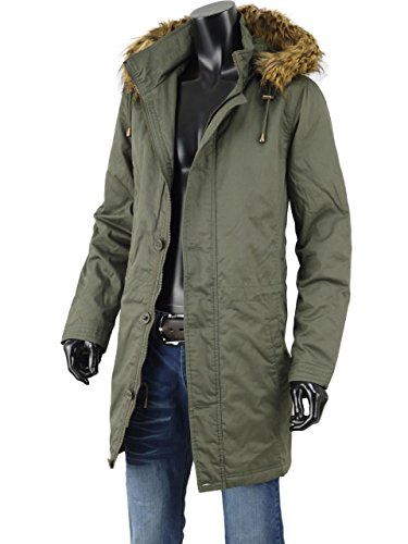 モッズコート ミリタリー コート メンズ 中綿 ファー フード 裏ボア ロングコート ファーコート T251023-01