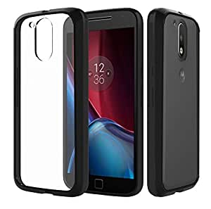 Chevron Moto G4 / G4 Plus Case, Chevron [Crystal Clear] [Air Hybrid] Ultra Slim Shockproof Bumper Cover Case for Motorola Moto G Plus 4th Gen (Black)