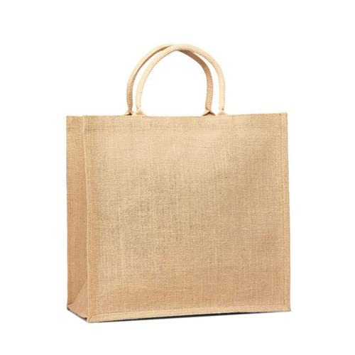 Eco friendly Jute/ Burlap Natural Large Grocery Shopping Tote - Summer End Sale