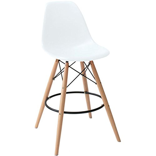 2xhome Set Of Two 2 White 28 Quot Seat Height Eames