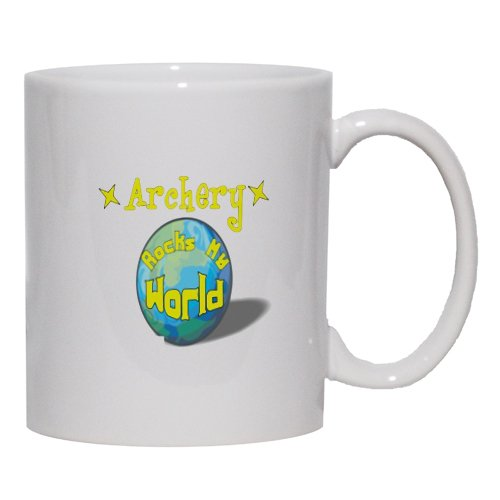 Archery Rock My World Mug for Coffee / Hot Beverage (choice of sizes and colors)
