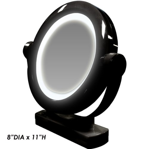 Rucci Led Lighted Stand Mirror, White