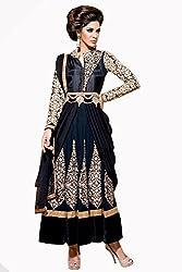 Admyrin Women Net Dress Material (Ay-Sk-Bm-1036 _Black+Cream _X-Large)