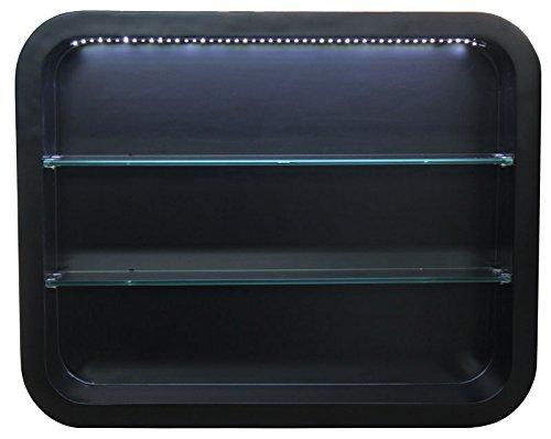 Wandvitrine-LOCARNO-mit-LED-Schleiflack-schwarz