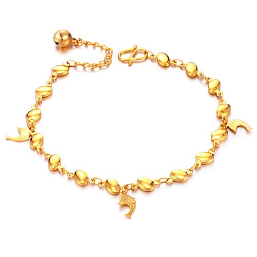 OPK 18K Gold Plated exquisite Fish Women's Bracelet Bangle Hand Chain Best Gift!
