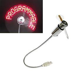 Niceshop® Flexible Mini USB LED Cooling Flashing Fan Programmable Edit Word for PC Laptop Notebook Desktops