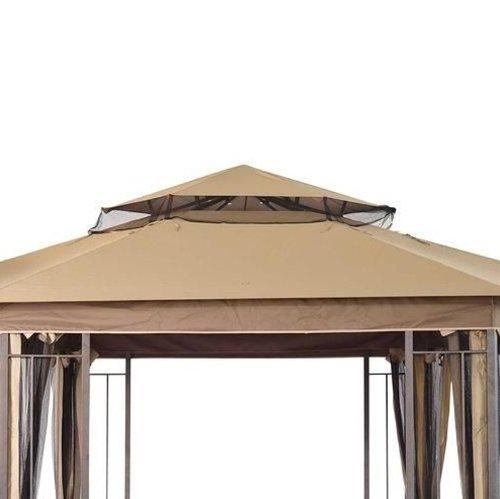 Hexagonal Corner Pocket Gazebo Replacement Canopy
