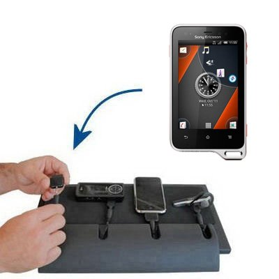 Gomadic Advanced Sony Ericsson Xperia active 4-port Charging Station - Uses TipExchange Technology to charge up to four devices simultaneously