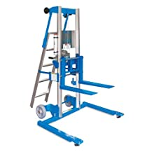 "Genie Lift, GL- 4, Straddle Base with ladder, Heavy-Duty Aluminum Manual Lift, 500 lbs Load Capacity, Lift Height 5' 11"" from Ground Level"