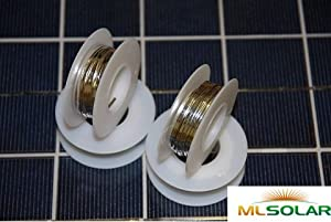 40' Solar Cell Tabbing Wire No Additional Solder Needed from ml solar