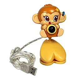 USB 30.0 Mega Pixel Cartoon Monkey Webcam
