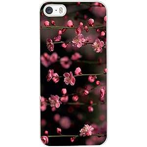 Casotec Pink Flowers Design Hard Back Case Cover for Apple iPhone 4 / 4S