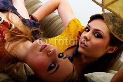 """Wallmonkeys Peel and Stick Wall Decals - Fashion Shot of 2 Beautiful Models - 24""""W x 16""""H Removable Graphic"""