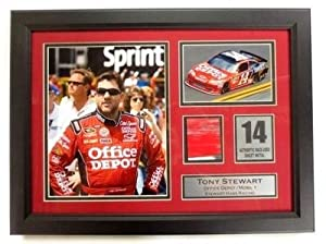 Tony Stewart Framed 19x14 Nascar Collage w  Authentic Race-Used Sheet Metal SI -... by Sports Memorabilia