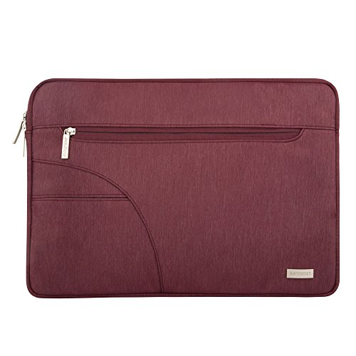 Mosiso - Custodia Borsa Involucro Sleeve Case per iPad Pro 12,9/Netbook / Laptop / Notebook / Computer Portatile / MacBook Air da 13-13,3 Pollici,Vino Rosso