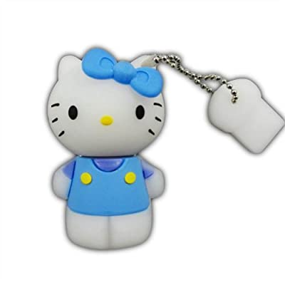 8GB Blue Hello Kitty USB Flash Drive Memory Stick Keychain + Gift Box from USB