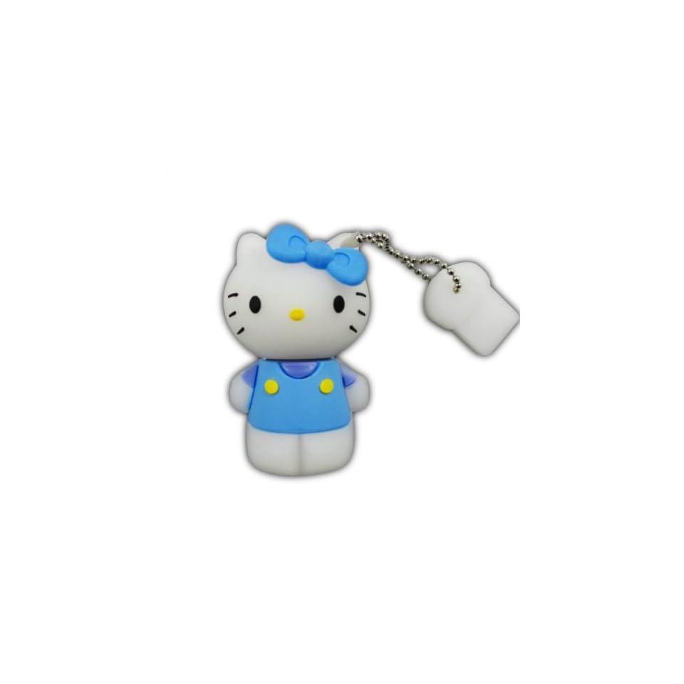 8GB Blue Hello Kitty USB Flash Drive Memory Stick Keychain + Gift Box