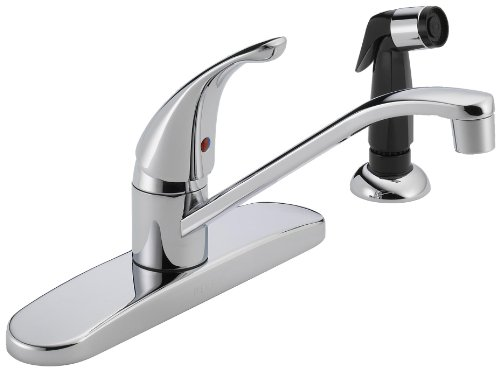 Peerless P115LF Single Handle Kitchen Faucet with Side Spray, Chrome