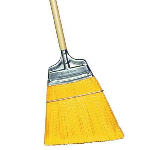 GORDON BRUSH M437310 Stiff Poly Angled Upright Broom with Wood Handle, Blade is Split Down The Middle for Double Scraping (Speedy Corn Broom compare prices)