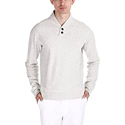 Zobello Men's Sweatshirt (21001C_Oatmeal Melange_X-Large)
