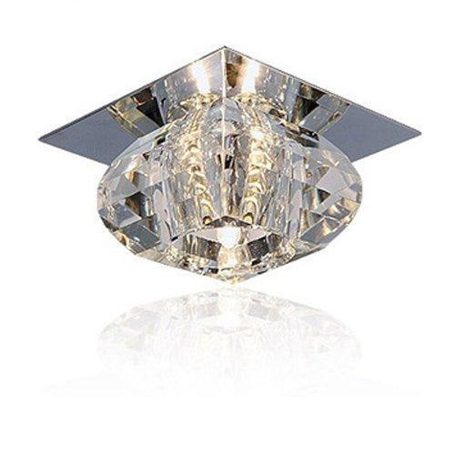 Lightinthebox Luxury Crystal Ceiling Lamp Dining Room Crystal Lamp Modern Home Ceiling Light Fixture Flush Mount, Pendant Light Chandeliers Lighting, Voltage=110-120V