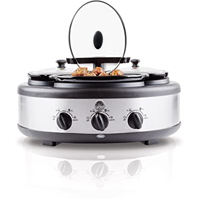GE 3-Crock Round Slow Cooker - 1.5 Qt Crocks from Naruekrit