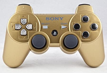 PS3 PLAYSTATION 3 Gold/Chrome Modded Controller (Rapid Fire) COD Black Ops 2- QUICKSCOPE, JITTER, DROP SHOT, AUTO AIM