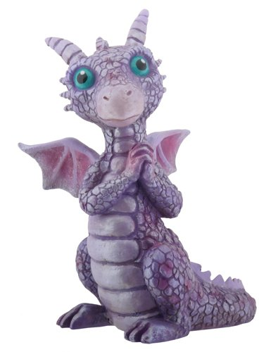 3.75 Inch Cold Cast Resin Purple and Pink Baby Dragon Figurine (Resin Dragon Baby compare prices)