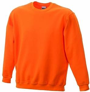 James & Nicholson Sweat-shirt pour homme Round Heavy orange s