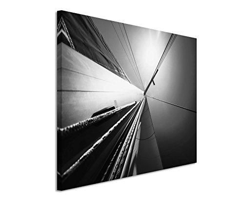 50x70cm Leinwandbild schwarz weiß in Topqualität Abstrakt SeSchwarz Weissoot