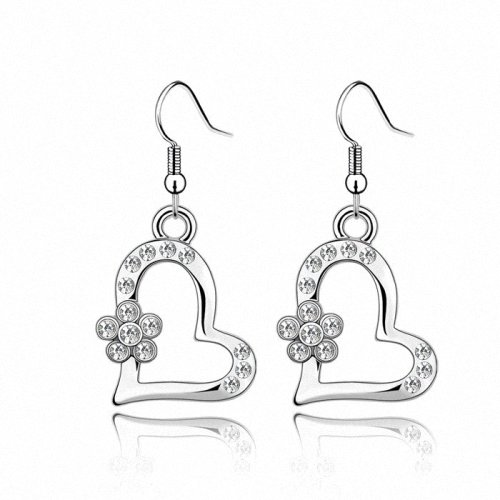 TAOTAOHAS- [ Search Name: Early Spring ] (1PAIR) Crystallized Swarovski Elements Austria Crystal Earrings, Made of Alloy Plated with 18K True Platinum / White Gold and Czech Rhinestone