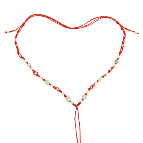 Rosallini 3 Pcs Lady Red Braids Cord Line Plastic Beads No Pendant Necklace String Chain