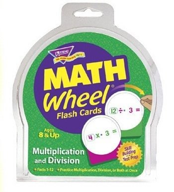 Math Wheel Multiplication and Division Flash Card Game