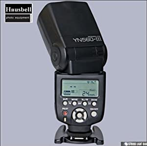 HausBell (TM) Brand YN-560 III YN560 III Wrieless Trigger Speedlight Flash for Canon and Nikon support RF-602 RF-603