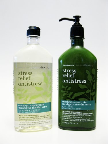 Sale alerts for  Bath & Body Works Aromatherapy STRESS RELIF Duo: Eucaliptus Spermint Body Wash & Foam Bath and Body Lotion - Covvet