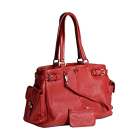 Prada Red Leather BR2703 Tote Handbag