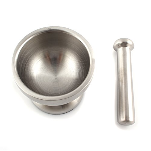 Small Stainless Steel Mortar And Pestle Set Kitchen Garlic Pugging Pot Bowl