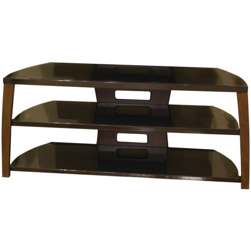 TechCraft Xii50W 50-Inch Wide Flat Panel TV Stand – Walnut Accents