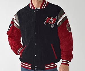 NFL Tampa Bay Buccaneers BUCS Officially Licensed Suede Varsity Jacket ~2X by G 111
