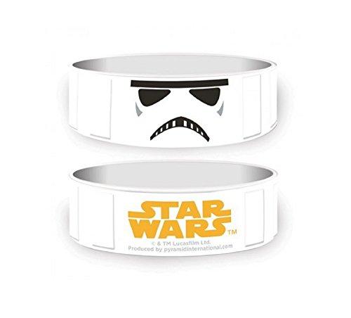 Star Wars Storm Trooper Helmet Nue rubber braccialetto con licenza ufficiale