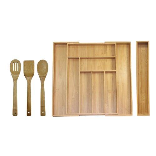 Oceanstar Bamboo Expandable Drawer Organizer Set, 5-Piece