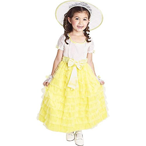 Toddler Yellow Southern Belle Costume (Size: 3-4T)