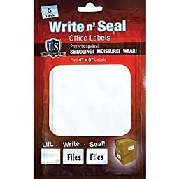 Label Shield - Write N\' Seal Self-laminating Two-ply Office Supply Labels 4\