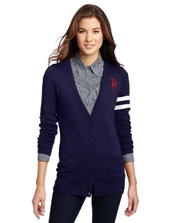 US Polo Assn. Juniors Cardigan Sweater, Navy Thimble, X-Large
