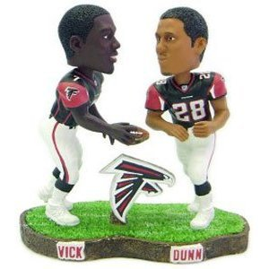 Buy Low Price Forever Collectibles Atlanta Falcons 2003 Legends of the Field Bobblemates Vick & Dunn NFL Limited Edition Bobble Head Figure (B000GLR16E)