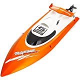 Feilun FT009 2.4G 4 channel 4CH Wireless Remote Control RC Racing Boat with Water Cooling System Orange