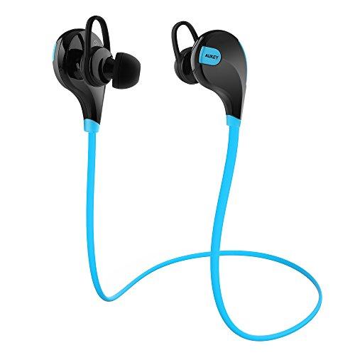 AUKEY Écouteurs Sport intra auriculaires, résistant, avec microphone pour iPhone, iPad, HTC, Samsung, Smartphones iOS et Android