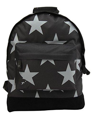 Mi-Pac-Zaino, motivo a stelle, taglia XL, colore: nero/grigio, taglia unica